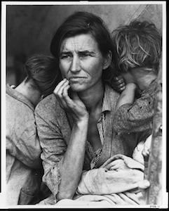 Migrant mother taken by Dorothea Lange - 1936